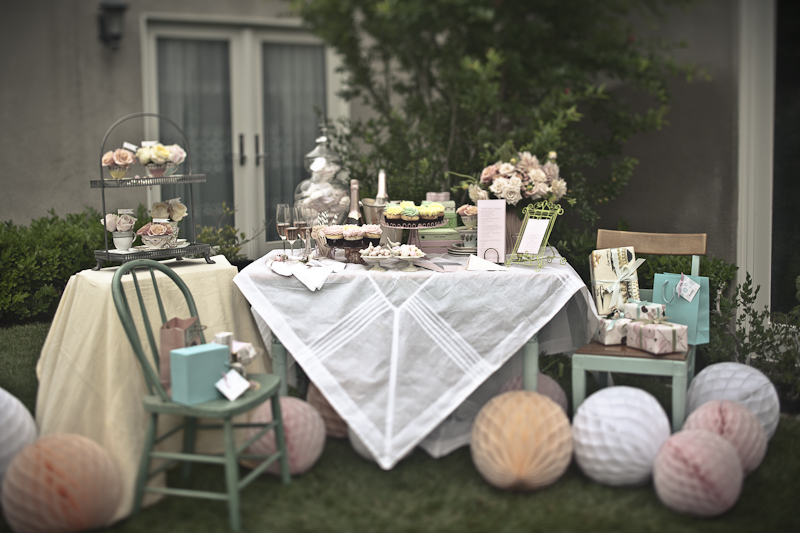 tea party accents event decor