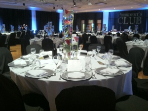 black tie accents event decor
